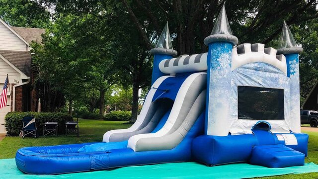 Frozen themed BounceHose Water Slide